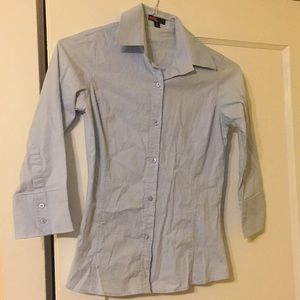 Forever 21 Blue Button Down Shirt